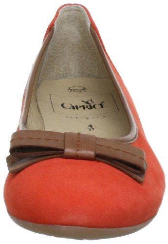 Caprice Ballerina 20 Naranja Da para de 9 mujer Bailarinas cuero 22107 9 X5Xpx4w