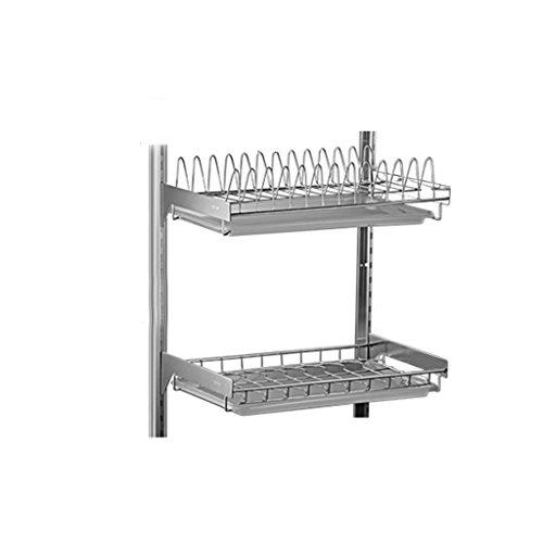 GAOYANG Kitchen Dishwasher Drying Rack Wall-mounted Punch-fr