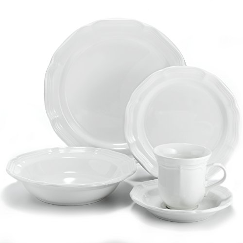 - Mikasa French Countryside 40-Piece Dinnerware Set, Service for 8