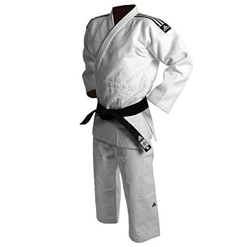 Adidas Judogi J730Champion II Slimfit IJF Bianco Nero Stripes
