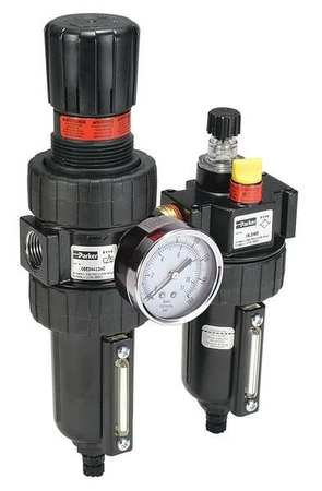 Filter/Regulator/Lubricator, 3/4 In. NPT by Parker