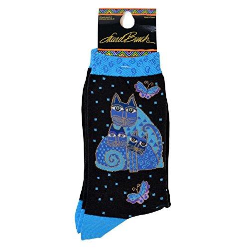 k-bell-womens-laurel-burch-crew-socks-lb-1006-9-11-black-indigo-cats