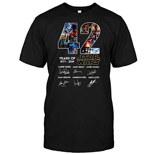 Star Wars Shirt - 42th Anniversary Star Wars T Shirt for Men and Women (Unisex T-Shirt;Black;2XL)