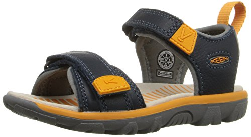Keen Kinder Sandale Riley II in braun orange - dunkelblau