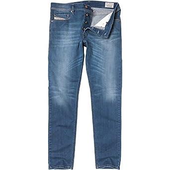 37a3a2c3 Mens Diesel Mens Tepphar 0RP36 Jeans Blue Denim - Mid Blue - 29x32 29 Waist  32 Leg: Amazon.co.uk: Clothing