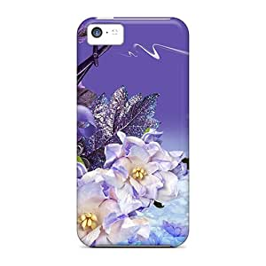 Hot Fashion LCl5209PoKC Design Case Cover For Iphone 5c Protective Case (lavender Dreaming)