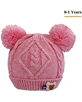 Winter Warm Knitted Baby Hat for Girls Cotton...