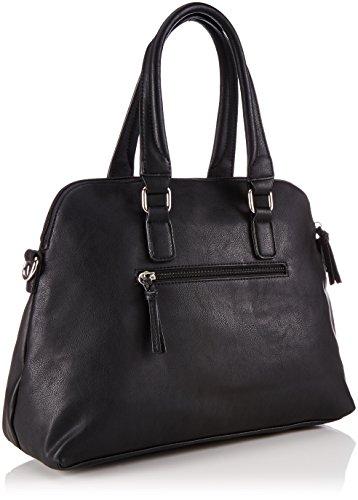 Tamaris FINJA Shopping Bag - Bolsa de la compra de piel sintética mujer negro - Schwarz (Black Comb)