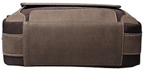 Coffee Messenger Designer Vintage Fashion Oxford 4fsglobal Bag grey Men Handbag w8n4qvfZF