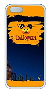 iPhone 5S Case, Unique Protective Design Soft TPU White Edge Halloween 11 Case Cover for iPhone 5/5S