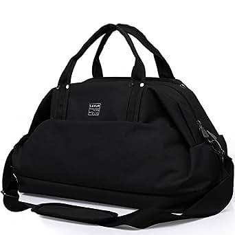 LUXUR 50L Travel Duffel Bag Waterproof Weekender Luggage for Hiking Business Gym