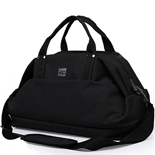 LUXUR Travel Duffel Bag Waterproof Weekender Luggage for Hiking Business Gym (50L) by LUXUR