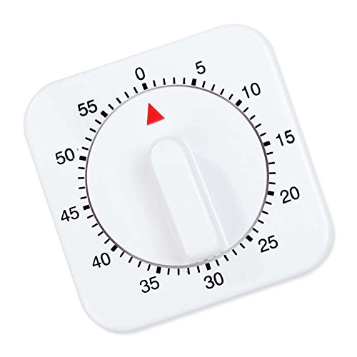 - Luxsea Kitchen Timers Novelty White Square 60-Minute Mechanical Reminder Count Down Alarm