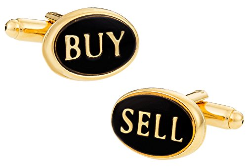Cuff-Daddy Buy Sell Finance Wall Street Stock Cufflinks with Presentation Box (Mens Chaps Street)