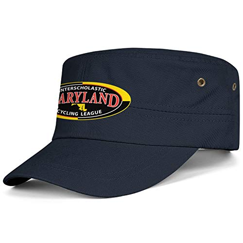WCAO Military Caps Maryland Interscholastic Cycling League Cadet Flat Top Corps Hat Cotton Baseball Hats