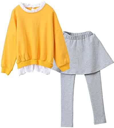 39f86c17 M RACLE Cute Little Girls' 2 Pieces Long Sleeve Top Pants Leggings Clothes  Set Outfit