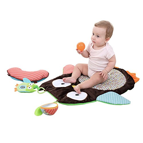 Activity Mat, Plush Critters Prop & Play Peek Crawling Playing Rug Cushion Pillow Pad Gift 27.17