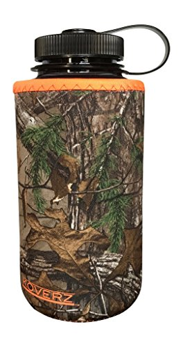 Koverz XL - #1 Neoprene 32-40 oz Water Bottle Insulator Cooler Coolie - Officially Licensed REALTREE XTRA Camouflage