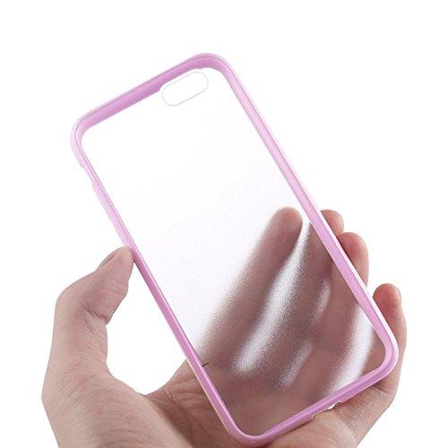 Phone Taschen & Schalen TPU Stoßfänger + Kunststoff zurück Fall für iPhone 6 Plus & 6S Plus ( Color : Pink )