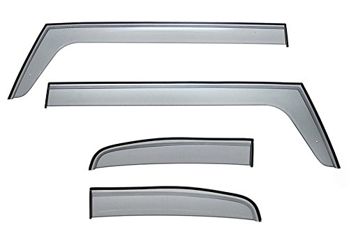 WellVisors Premium Sleek HD Side Window Visor Smoke Clip On