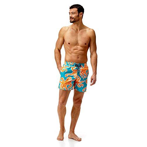 VILEBREQUIN Men's Moorea Pattern Swim Trunk, kumquat, Medium by Vilebrequin