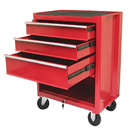 Superbe Excel TB2060BBSB Red 27 Inch Steel Roller Cabinet, Red