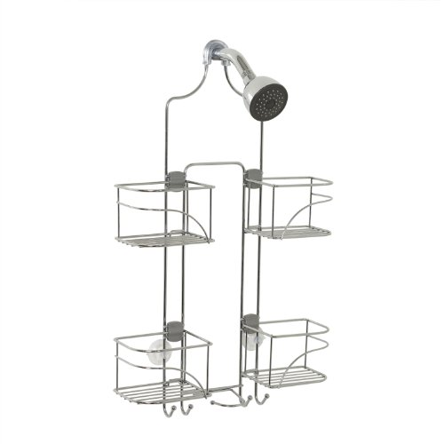 (Zenna Home Expandable Over-The-Shower Caddy, Chrome)