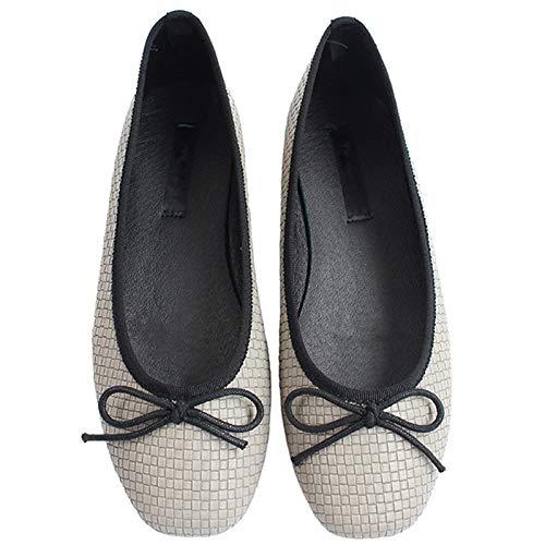 FLYRCX Zapatos Planos de Arco Dulce Solo Zapatos Zapatos de Ballet de Boca Baja Zapatos de Las Mujeres Embarazadas Zapatos de Trabajo de Oficina de Las señoras D