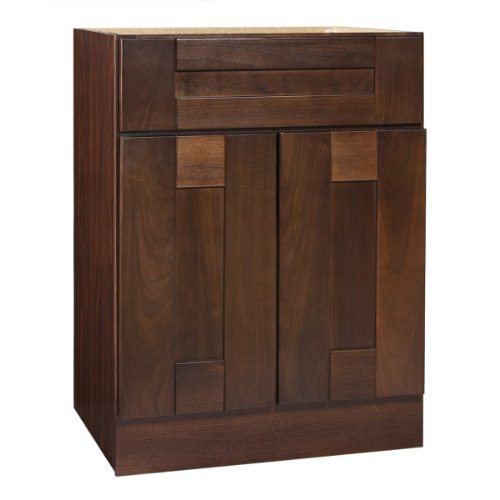 Coastal Collection GEDD-2418 Georgetown Series Black Walnut with Chestnut Finish (Design Solid Wood Base Cabinet)