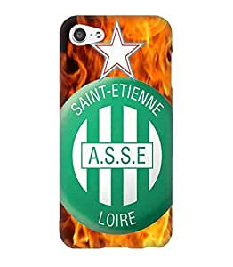 3D Cover Saint-étienne (ASSE) Collection Football Club Logo for IPod Touch 5th Funda Case Protect Pattern Hard Back Cute Design for Girls