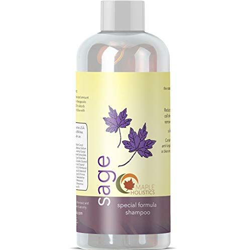 Natural Sage Shampoo for Dandruff and Dry Scalp Sulfate Free Anti Dandruff Itchy Flaky Scalp Antifungal Tea Tree Oil Rosemary Jojoba and Argan Oil for Thicker Hair Growth for Women and Men
