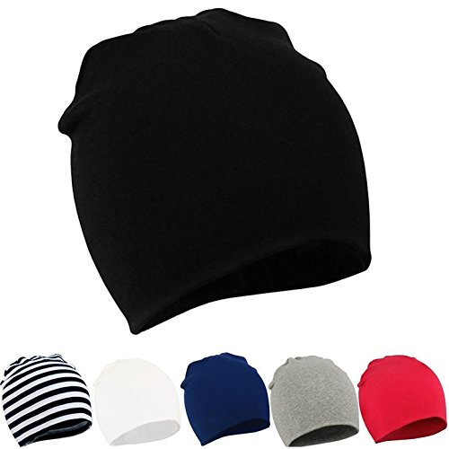 Zando Infant Newborn Hats Soft Cotton Cute Baby Beanies Unisex Lovely Knit Kids Caps Toddler Beanies For Baby Boys Girls F 6 Pack-Mix Color2 Small/0-12 (Infant Long Cap)