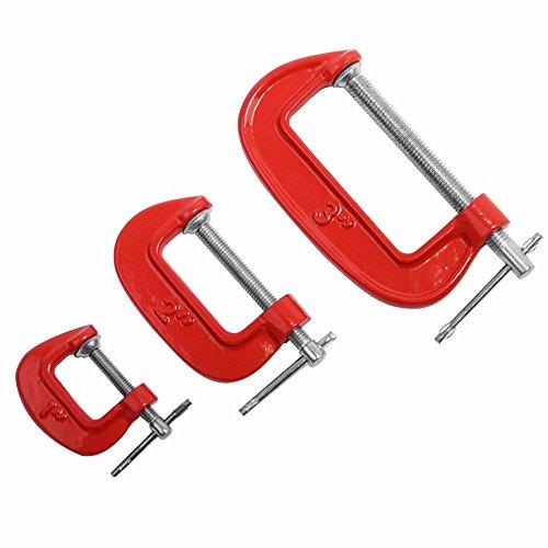 3 Piece C-clamp Set - 7