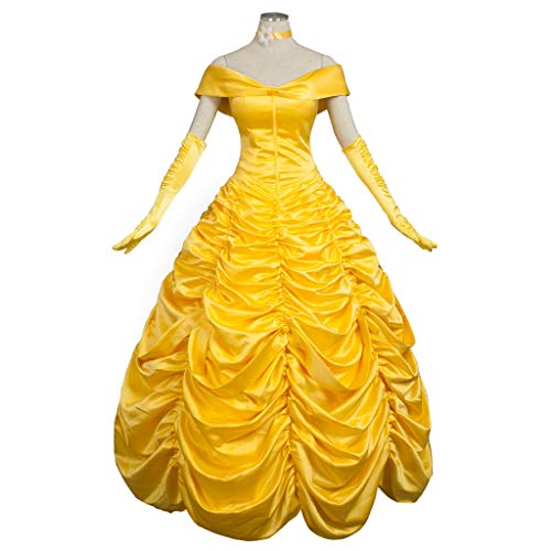 CosFantasy Princess Belle Cosplay Costume Ball Gown Fancy Dress mp002019 (Women L) for $<!--$67.00-->