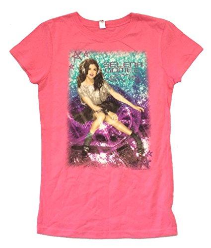Real Swag Inc Selena Gomez Headphone Journeys Pink Girls Youth T Shirt (XL)