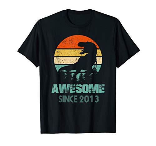 6th Birthday Gift Shirt Dinosaur 6 Year Old Tshirt for Boy]()