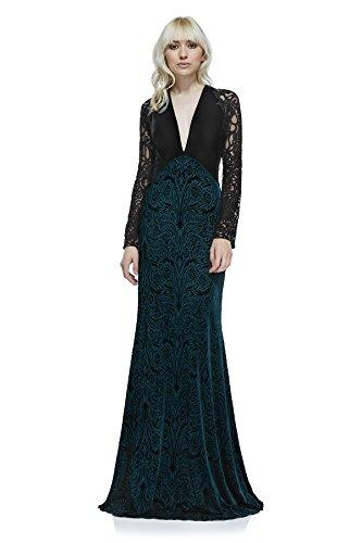 Tadashi Shoji Michel Evening Gown - Fr/Bk - Size L ()