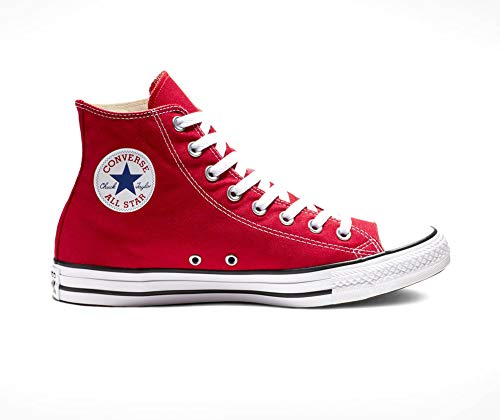 New 2011 Colour - Converse Unisex Chuck Taylor All-Star High-Top Casual Sneakers (Red, Men 6 M US / Women 8 M US)