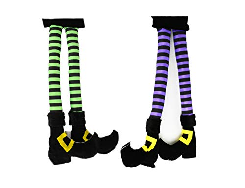 Set of 2 Novelty Witch's Legs for Doors or Cars! 19