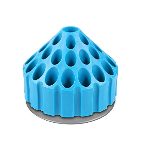 Weite 360 Degree Rotating Drill Bit Storage Organizer Case, Durable Honeycomb Drill Bits Holder Box Display Rack Tool Container (Blue)