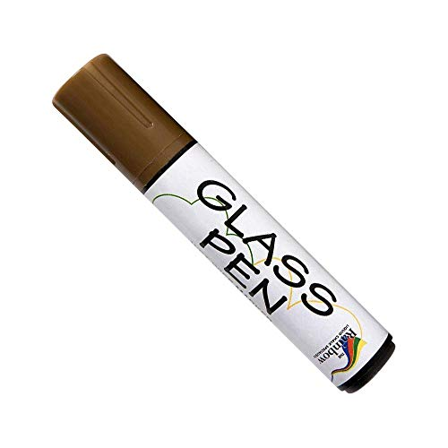 Glass Pen Markers Large Brown - Write on Windows, Mirrors, Signs, Storefronts. Non-Toxic, Remove with Damp Cloth