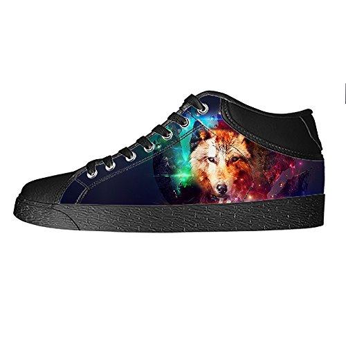 Custom Di Lacci Lupo Tela E Ginnastica Delle Da Luna Canvas Shoes Le Sopra Scarpe Men's Dalliy In I Alto qwRATq