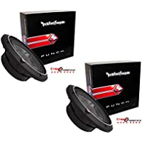 2 x ROCKFORD FOSGATE P3SD4-12 12 DUAL 4 OHM CAR AUDIO SHALLOW MOUNT SUBWOOFERS