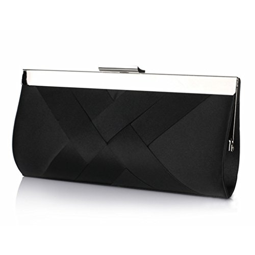 Womens Elegant Satin Evening Clutch