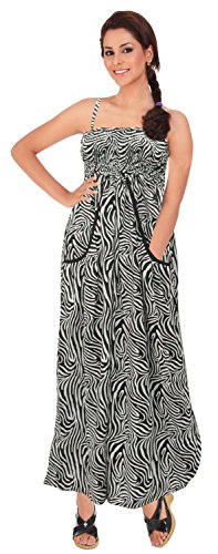 Print Tube Maxi Dress (La Leela Print Tube Dress Maxi Skirt Women Beach LARGE Black Bikini Swimwear M/L)