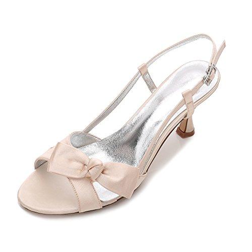 Schuhe Schuhe Heel Sandalen Hochzeit Satin Schuhe Slim Groß High Qingchunhuangtang Party 0I5qYY
