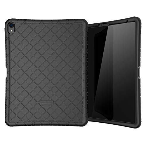 Bear Motion Silicon Case for iPad Pro 12.9 2018 Shockproof Silicone Protective Cover (Does NOT Support Apple Pencil 2 Charging) (iPad Pro 12.9 2018, Black)