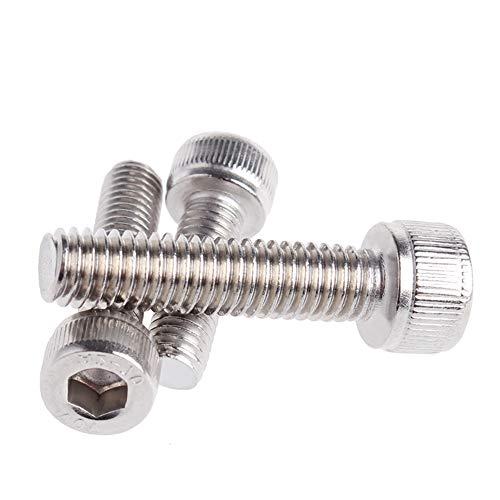 [해외]XFentech 육각 구멍 볼트 헤드 볼트-스테인레스 M2 나사 10 개50 개100 개 (M2 * 32) / XFentech Bolt head bolthex hole - Stainless M2 screw bolt, 10 pcs  50 pieces  100 pcs (M2*32)