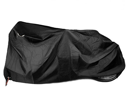 Kotivie Tandem Bicycle Cover Extra Long Bike Storage Cover 2 Seater Bike Cover Trailer Bike Cover Waterproof Sun Protection Black