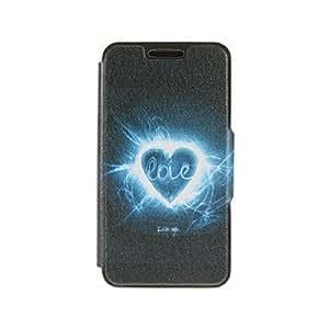 WQQ kinston patrón amor aurora pu cuero cubierta del cuerpo completo con soporte para el iphone 6